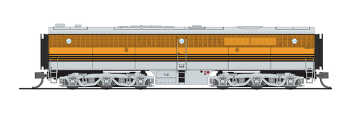 Broadway Limited 3842 Alco PA/PB Set, D&RGW #6011/6012, Grande Gold w/ Black Stripes, A-unit w/ Paragon3 Sound/DC/DCC, Unpowered B-unit, N Scale