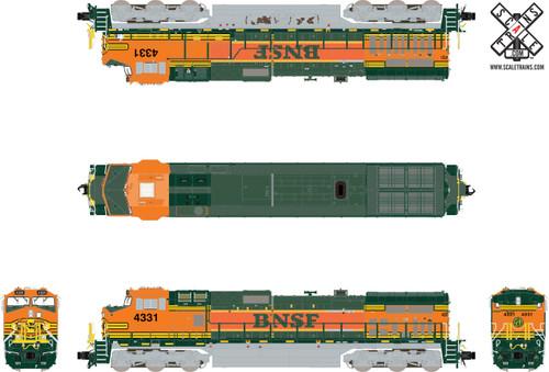 Scaletrains SXT32558 GE Dash 9-44CW, BNSF/Frankenloco (Run 3) #4331 ESU LokSound DCC & Sound Rivet Counter N Scale