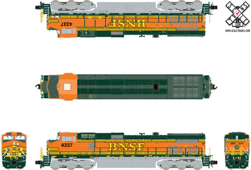 Scaletrains SXT32552 GE DASH 9-44CW, BNSF/Heritage II (Run 3) #4560 ESU LokSound DCC & Sound Rivet Counter N Scale
