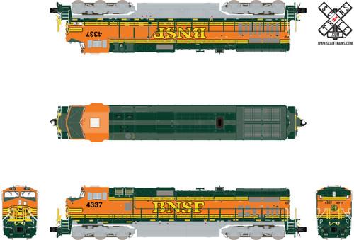 Scaletrains SXT32554 GE DASH 9-44CW, BNSF/Heritage II (Run 3) #4346 ESU LokSound DCC & Sound Rivet Counter N Scale
