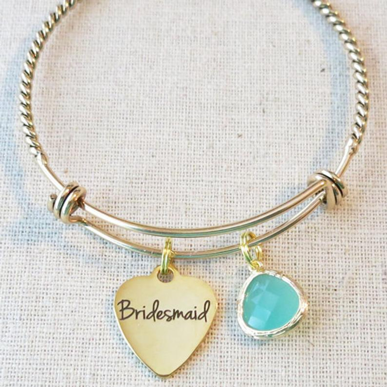 Personalised Initial Bridesmaid Gift Bridesmaid Proposal Bracelet with Initial