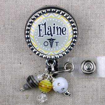 Personalized OT Name Badge - Occupational Therapist Gifts