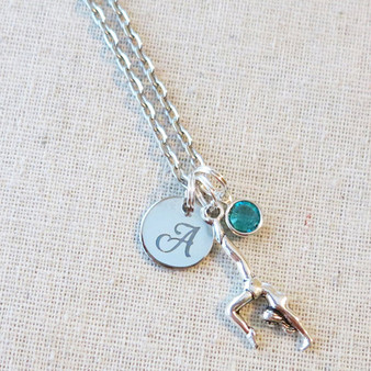 GYMNASTICS Gifts - Personalized Charm Necklace for Gymnast