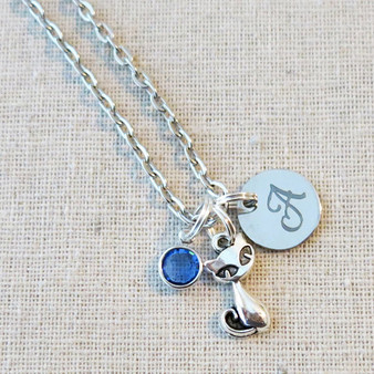 KITTY CAT Necklace - Personalized Cat Lover Gift