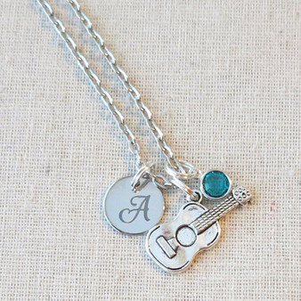 GUITAR NECKLACE - Personalized Guitar Player Gift