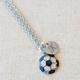 Bling SOCCER Ball Necklace - CUSTOM Soccer Team Gift