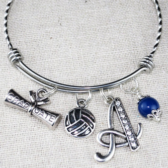 VOLLEYBALL Bracelet Graduation Gift - SENIOR Gift for Volleyball Player