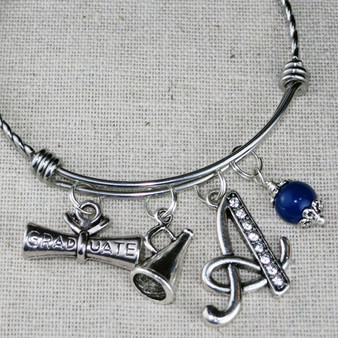 CHEER Gift - Cheer Megaphone Charm Bangle