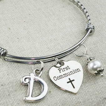 FIRST COMMUNION Gift - Custom First Communion Charm Bracelet