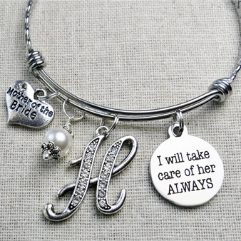 I Will Take Care of Her ALWAYS Bracelet - Gifts for Mother-in-Law