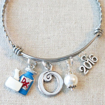 Pharmacist Graduation Gift - Rx Bangle Bracelet