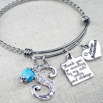 Jr Bridesmaid GIFT - Thank You for Standing By My Side Bracelet