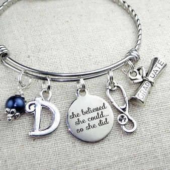 Gifts for Nurses - Stethoscope Bangle Bracelet