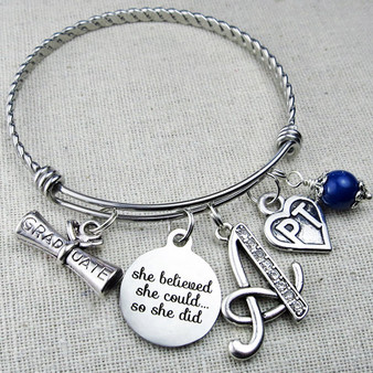 Physical Therapist Graduation Gift - PT Bangle Bracelet