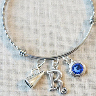 CHEERLEADING Bangle Bracelet - Megaphone Jewelry