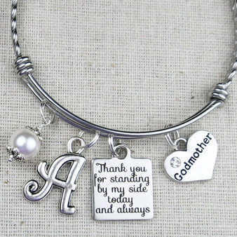 Gift for GODMOTHER - Thank You For Standing By My Side Today And Always