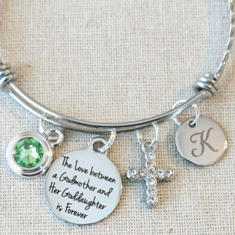 BAPTISM Gift - Love Between a Godmother and her Goddaughter is Forever