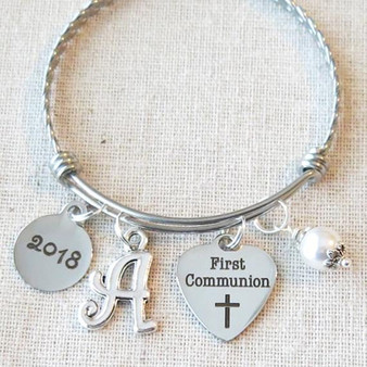 2017 FIRST COMMUNION Gift - Girls First Communion 2017 Bangle