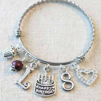 Personalized Birthday Gifts for Little Girls - 8th BIRTHDAY GIRL Bracelet