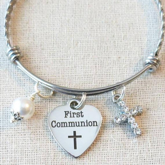 FIRST COMMUNION Bracelet - Little Girls First Communion Gift