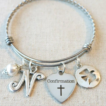 CONFIRMATION Gift - Girls Religious Confirmation Bracelet