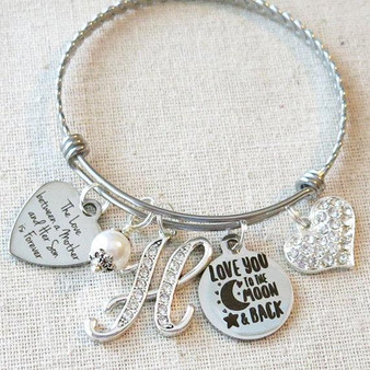 MOTHER SON Jewelry Gift - The Love Between Mother and Son is Forever Bracelet