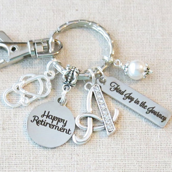 Personalized RETIREMENT Gift, Nurse Medical Retirement Key Ring, Retirement Accessory, Happy Retirement Gift for Her, We'll Miss You Gift