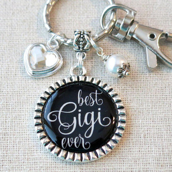 BEST GIGI EVER Gift for Gigi- Gigi Charm Keychain Bag Clip