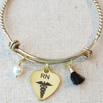 Graduation Gift For Nurse, RN Graduation Gift, Gifts For Nurses, Personalized Gift For RN Nurses, Nurse Graduation Charm Bracelet, RN Gifts