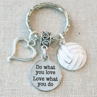 SENIOR Gift for VOLLEYBALL Player, Class of 2019 Grad, Volleyball Gift For Graduate, Do What You Love Love What You Do VOLLEYBALL Keychain