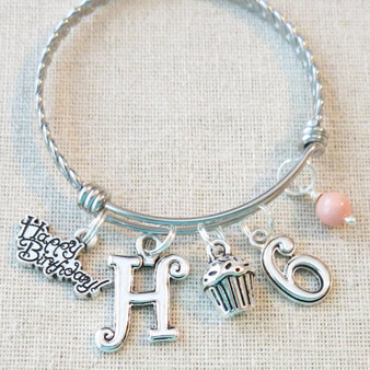 PERSONALIZED 6th BIRTHDAY GIRL Bracelet - Little Girl Birthday Gifts