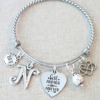 BEST FRIEND Gifts, Best Friends Are Forever Bracelet, Long Distance Friend Gift, Best Friend Bracelets, BFF Friends Forever Bracelet