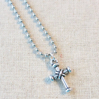 Men's Cross Necklace, Boys Confirmation Gift, Religious Cross Jewelry, Baptism Gift, Communion Baptism Confirmation Keepsake