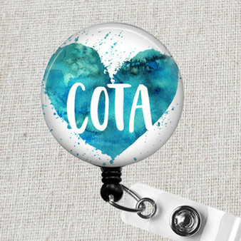 COTA Retractable Badge Reel, Occupational Therapy Assistant Badge Clip, COTA Certified OT Assistant Badge Holder,Occupational Therapist Gift