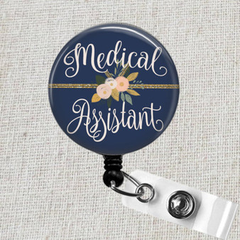 Medical Assistant MA Retractable Badge Reel, Nursing School Graduation Gift, Medical Assistant Name Badge Holder, Gift for Nurses Graduation