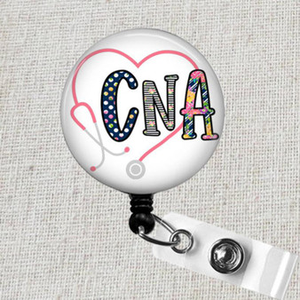 CNA Badge Reel, CNA ID Holder, Nurse Retractable Badge Reel, Nursing Assistant Gift, CNA Medical Badge Reel, Nursing Assistant Badge Clip