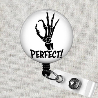 SKELETON HAND Sign Badge Reel, PERFECT X-Ray Retractable Badge Reel, Radiology X-Ray Tech Badge Holder, Orthopedics Skeleton Hand Badge Clip