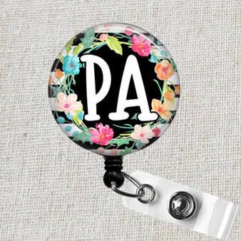 Physician's Assistant Badge Reel, PA Retractable Badge Holder, Physician's Assistant Graduation Gift, PA Name Badge Clip, Gifts for PA