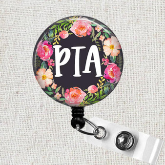 Therapy Badge Reel, Physical Therapy Assistant Badge Holder, PTA Graduation Gift, Physical Therapist Badge Reel, Therapist Gift, PTA Gifts