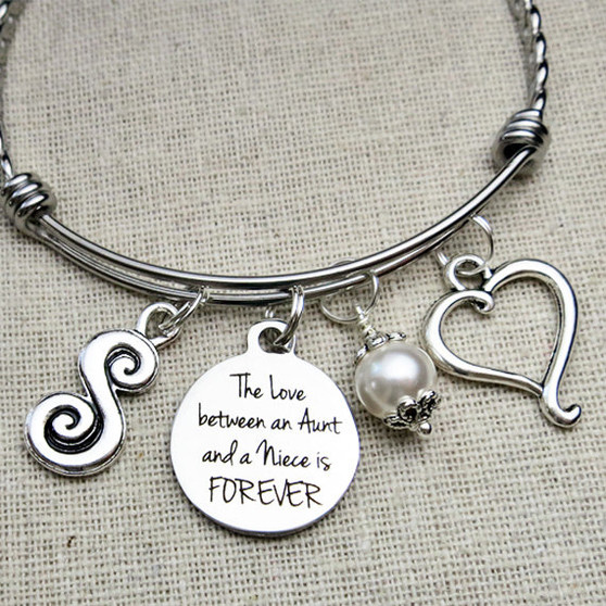The Love Between an Aunt and a Niece is FOREVER Bracelet - Gift for Aunt or Niece