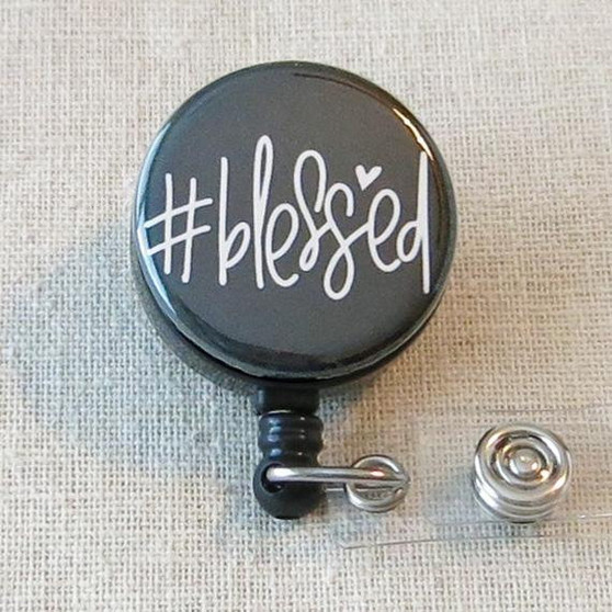 #BLESSED Badge Reel - #blessed Religious Retractable Badge Holder