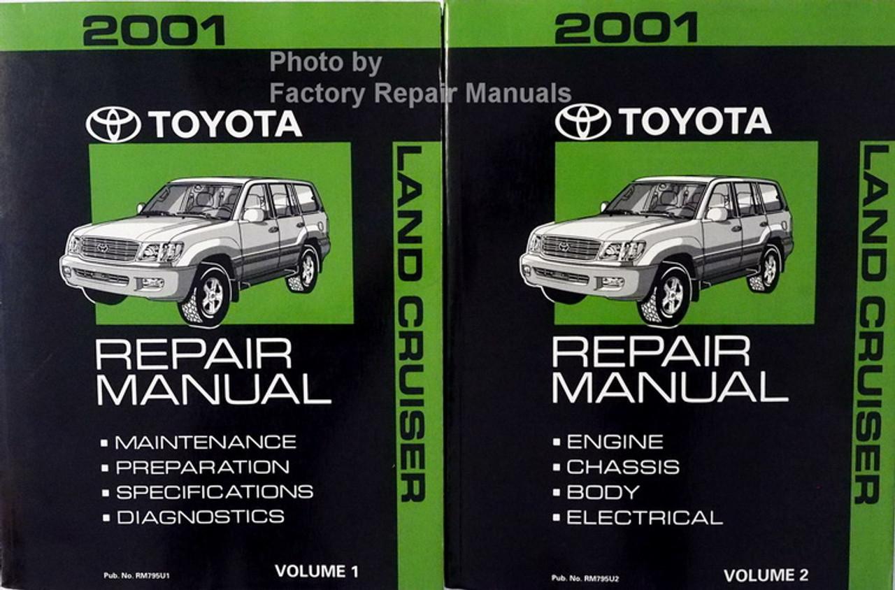 2001 Toyota Highlander Factory Service Manual Set Original