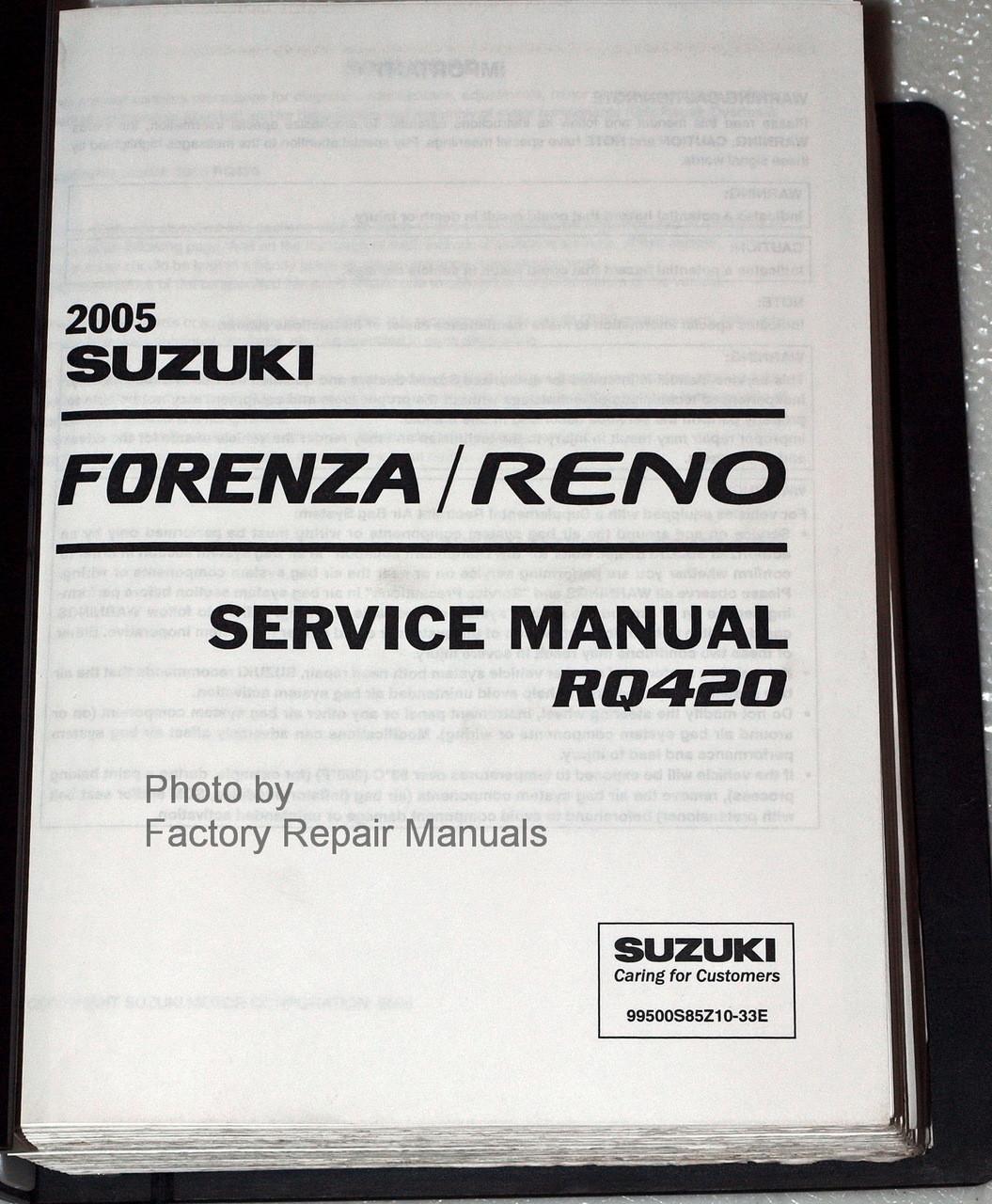 Bestseller  07 Suzuki Forenza Owners Manual