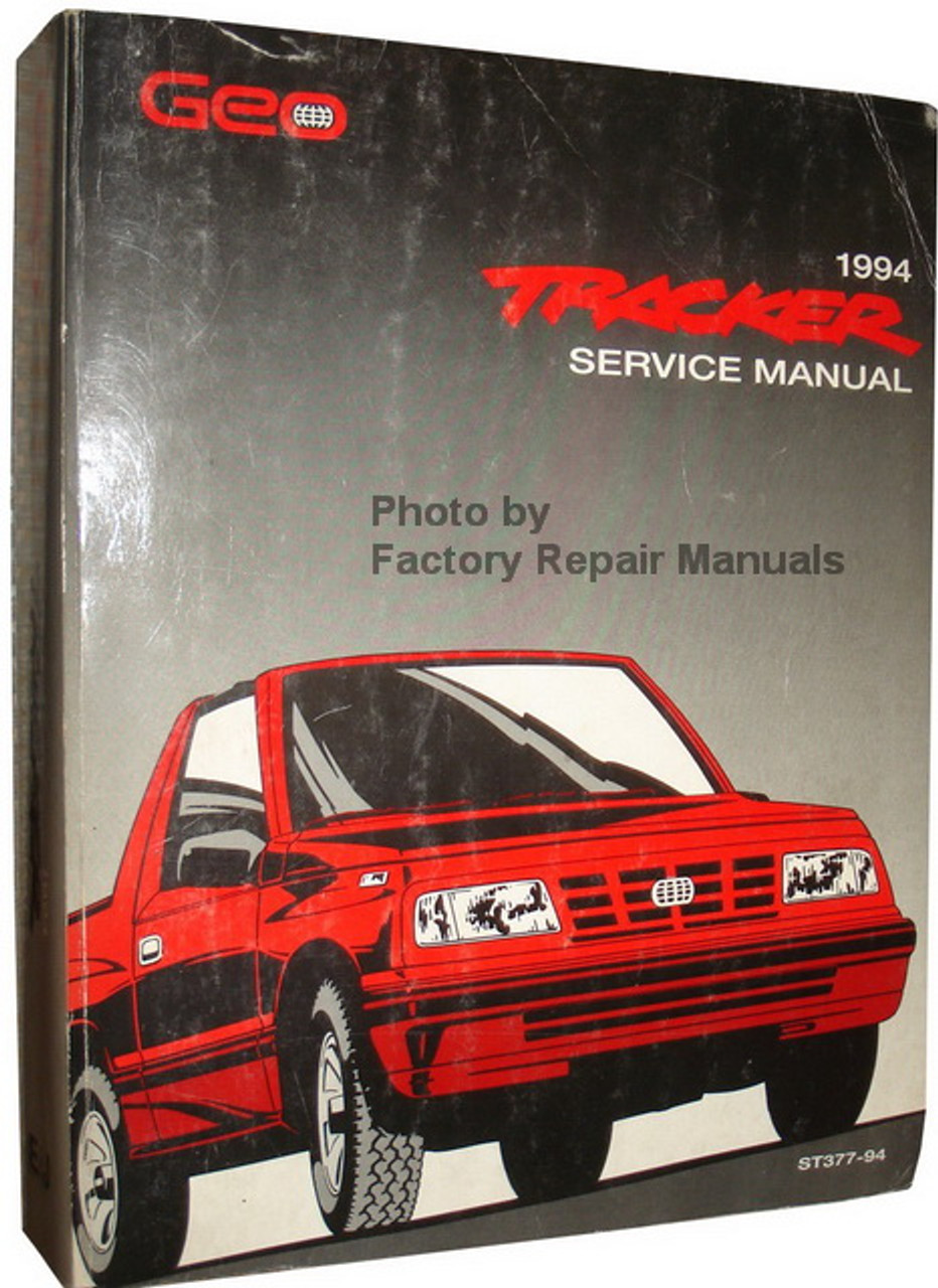 1994 Geo Tracker Factory Service Manual Original Chevy
