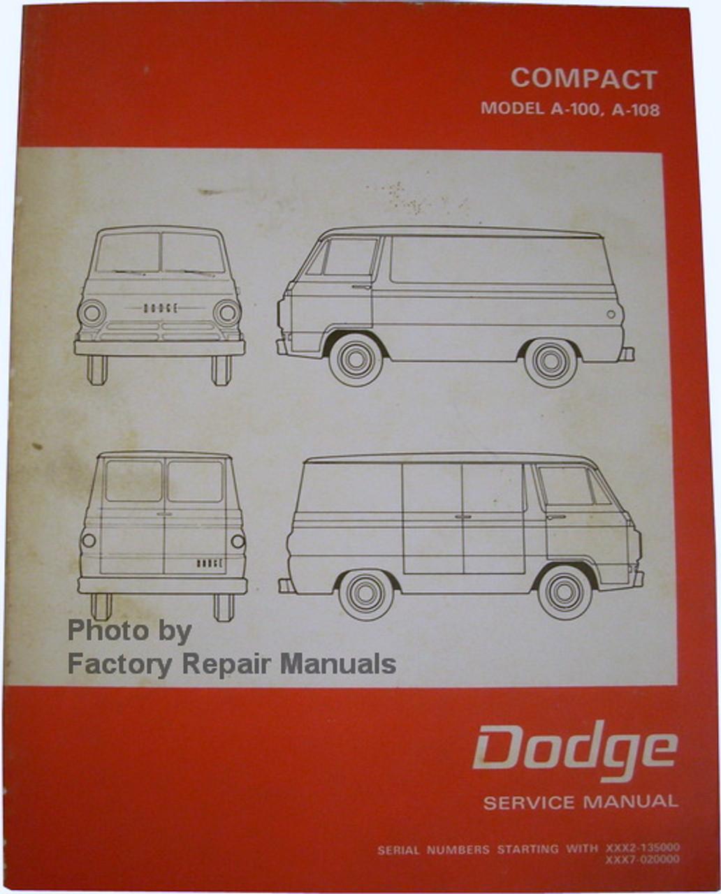 1970 dodge a100 wiring diagram 1968 1970 dodge a100  a108 compact van and pickup factory shop  1968 1970 dodge a100  a108 compact van