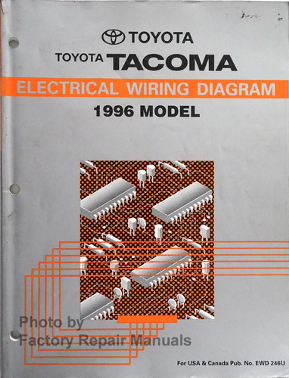 1996 Toyota Tacoma Electrical Wiring Diagrams Original Factory Manual