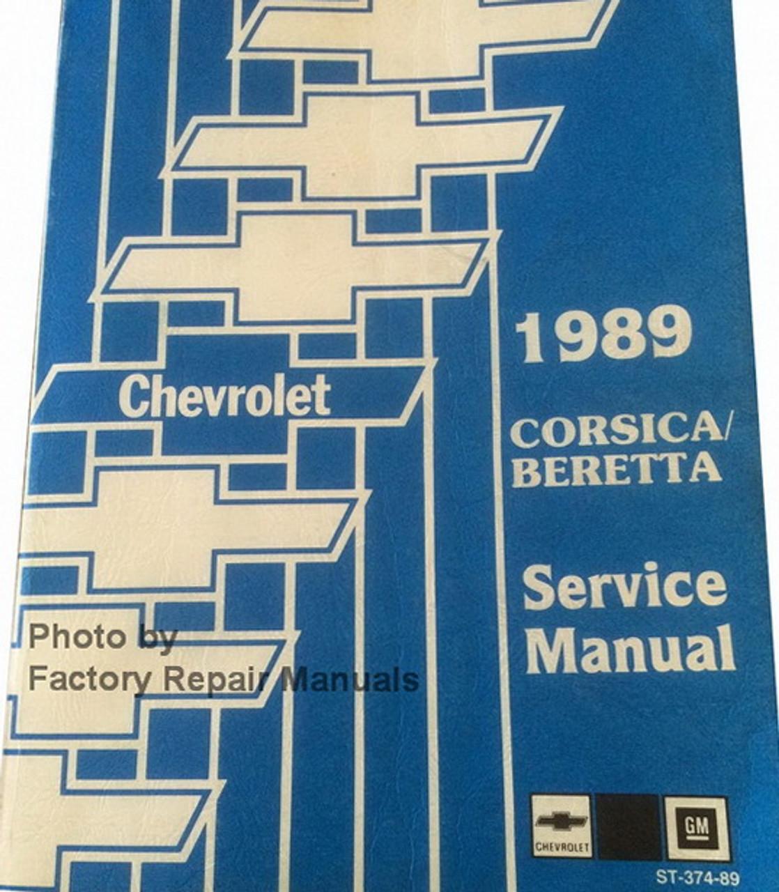 1989 Chevy Corsica and Beretta Factory Service Manual Original