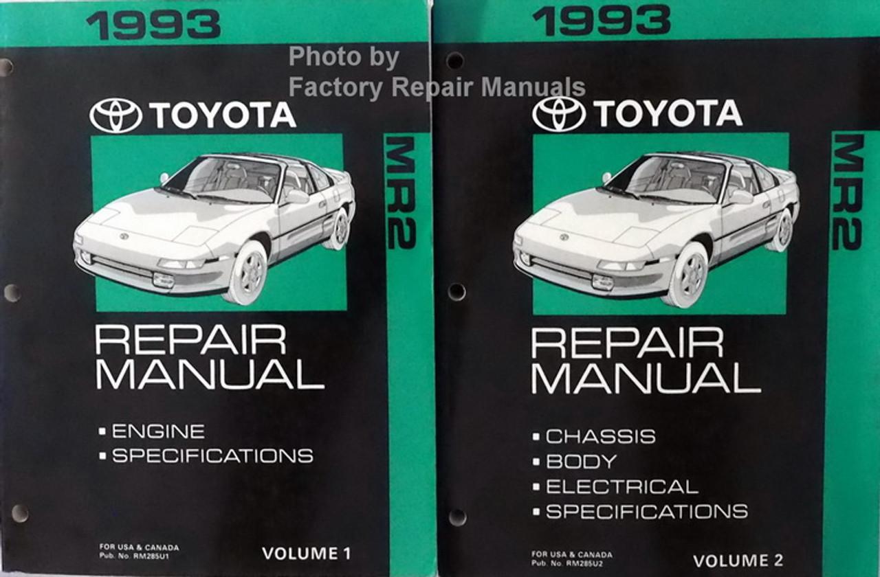 1993 Toyota Mr2 Factory Service Manual Set Original Shop
