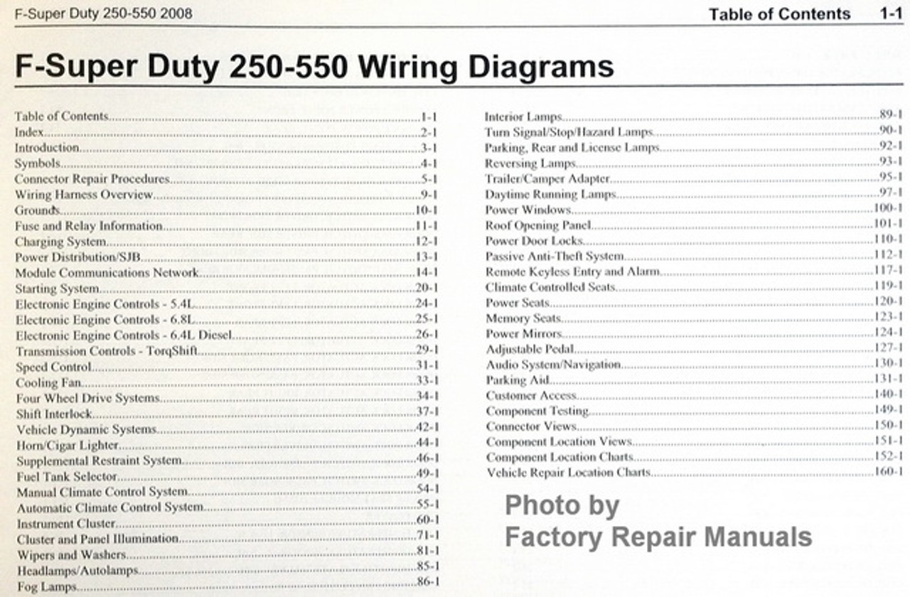 2008 Ford F550 Wiring Diagram