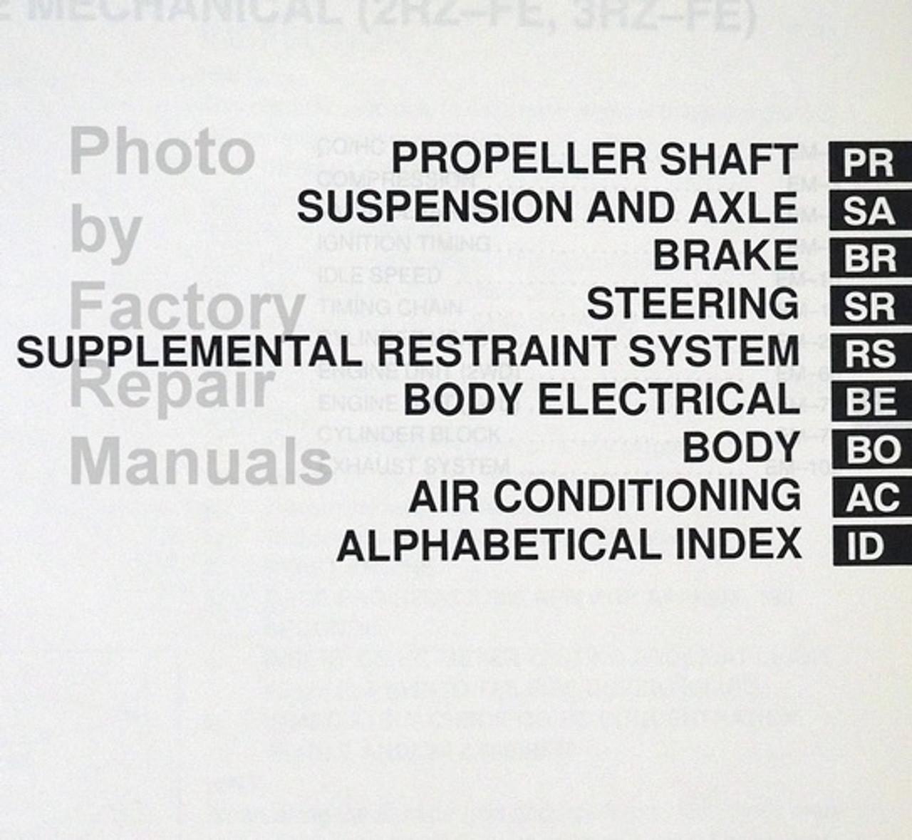 1999 Toyota Tacoma Factory Service Repair Manual Set